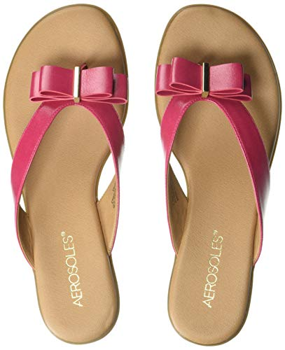 - Aerosoles - Women's Mirachle Sandal - Casual Thong Sandal with Memory Foam Footbed (9M - Pink)