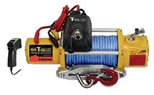 T-MAX 47-1895 PEW9500WCP Performance Series 9500lb Winch with Radio Control and Torque Limiter