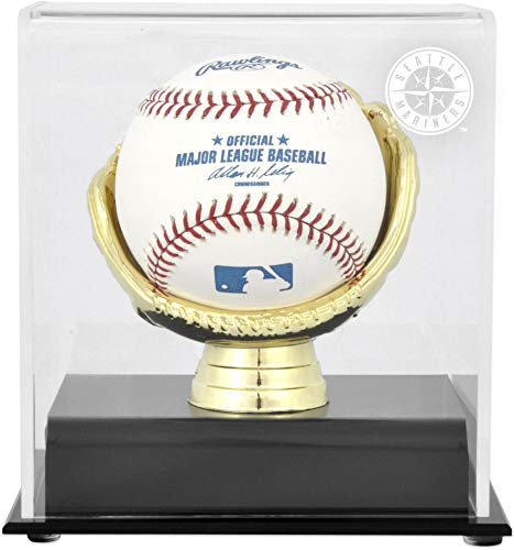 (Seattle Mariners Gold Glove Single Baseball Logo Display Case)
