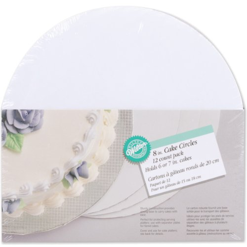 "Wilton Cake Boards: 8"" Circle, 12/Pkg."