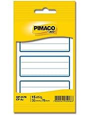Etiqueta adesiva escolar c/pauta c/tarja az OP3578 Pimaco, BIC, 886623, Azul, pacote de 5