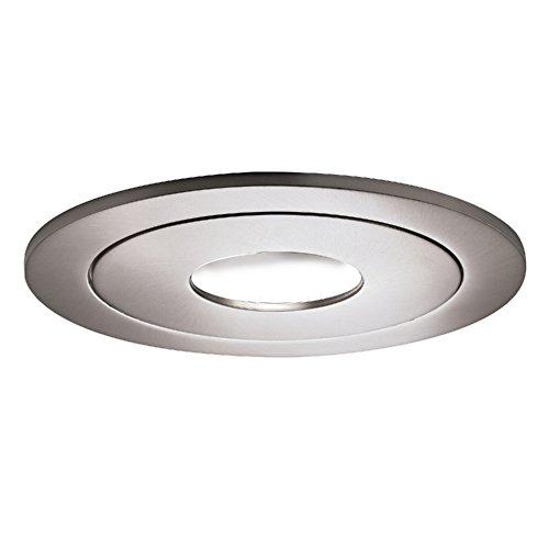 Halo 990SN Recessed Lighting Pinhole Trim, 4 In, Nickel