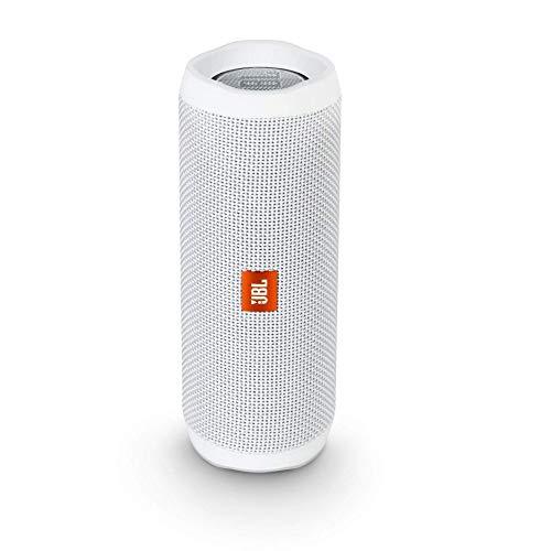 JBL FLIP 4 IPX7 Waterproof Wireless Portable Bluetooth Rechargeable USB Speaker (White) (Renewed)