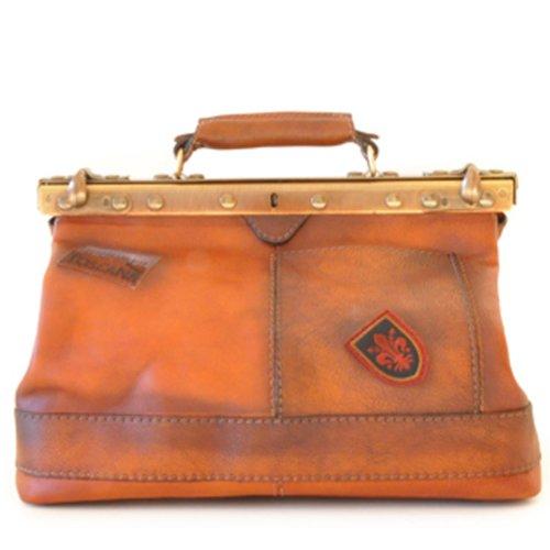 Pratesi Italian Leather - San Casciano Handbag, Bruce Cognac