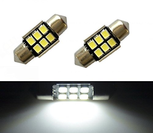 JDM ASTAR Super Bright AX-2835 Chipsets Error Free 1.25 inches DE3175 DE3021 DE3022 3175 LED Interior Map Dome Lights, Xenon White (93 Honda Accord Jdm Parts compare prices)