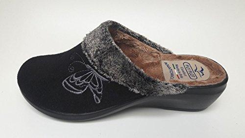 FlyFlot womens L. slipper black Black PVZmnD