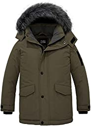 ZSHOW Boy's Hooded Winter Padded Coat Thick Fleece Lined Quilted Parka Windproof Puffer Ja