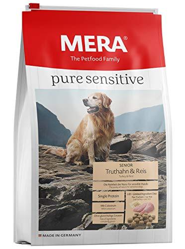 MERA Pure Sensitive Senior Truthahn und Reis Hundefutter – Trockenfutter für die tägliche Ernährung älterer…