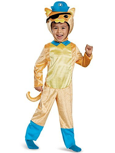 Disguise Kwazii Cat Classic Octonauts Silvergate Media Costume, Medium/3T-4T by Disguise