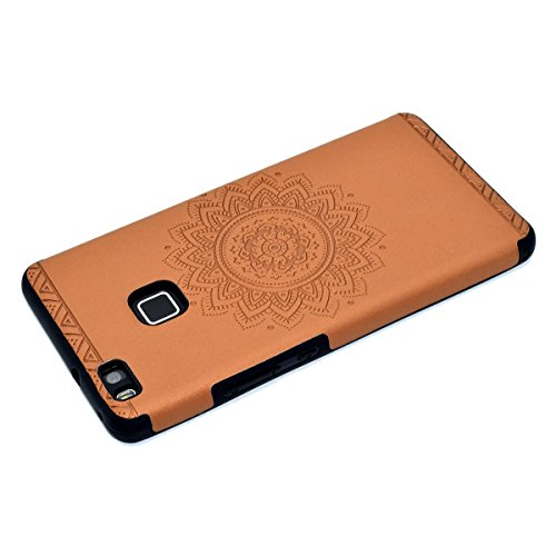 inShang Huawei P9 Lite,Ascend P9 Lite case Funda y Carcasa para Huawei P9 Lite case Huawei P9 Lite móvil, Ultra delgado y ligero Material de TPU, carcasa posterior (Back case) con , Brown printing