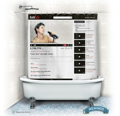 youtube shower curtain - 2