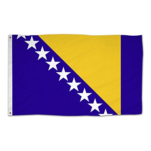 Bosnia and Herzegovina National Flag Country Banner 3'x5' Ft Polyester Grommets Indoor/Outdoor ()