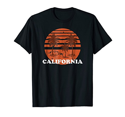 80's Style California Orange Sunset T-shirt - 5 colors