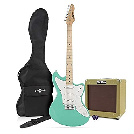 Guitarra Eléctrica Seattle + Pack de Ampli SubZero V35RG - Seafoam Green: Amazon.es: Instrumentos musicales