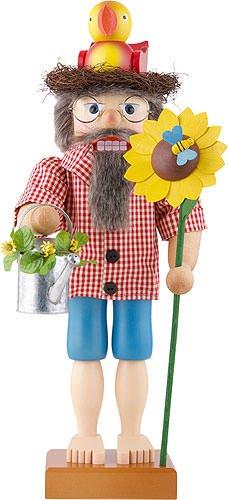 German Christmas Nutcracker Mr. Summer - 48 cm / 19 inches - Christian Ulbricht by Authentic German Erzgebirge Handcraft