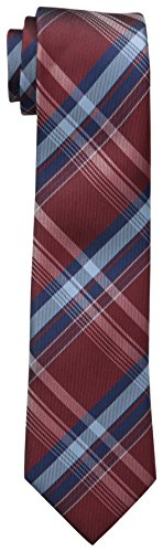 Dockers Big Boys' Plaid Necktie, Red, One Size