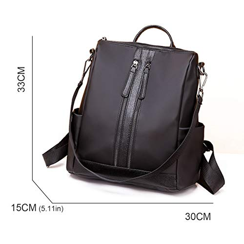 Black APHISONUK Function Rucksack Multi Backpack Daypack Black Oxford Ladies Fashion Schoolbag Casual MM269 rR6Swrq7