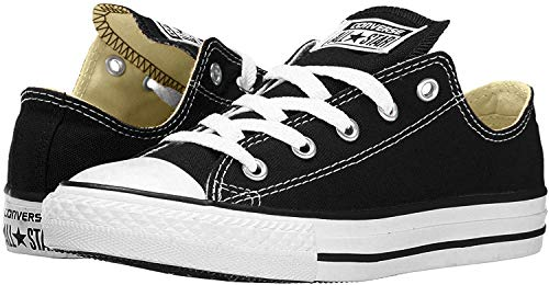 Converse Mens All Star Low Top Low Top Lace Up Fashion, Black/White, Size 7.5