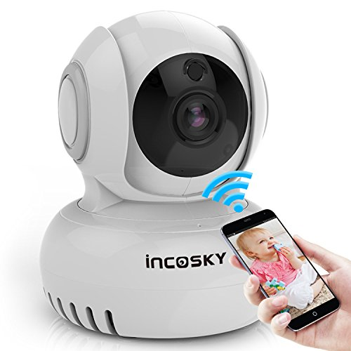 Wireless Security Camera incoSKY 1080P WiFi IP Dome Camera with Motion Detection Two-Way Audio Pan/Tilt Night Vision for Baby Monitoring Home Surveillance, BD1