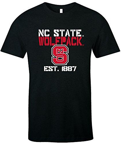 Nc State Wolfpack Baseball - Image One NCAA North Carolina State Wolfpack Est Stack Jersey Short Sleeve T-Shirt, Black,Medium