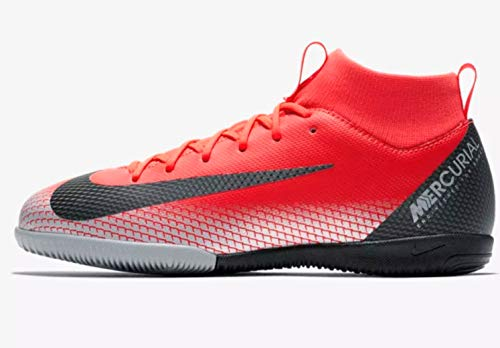 Jr Youth Soccer Shoes - Nike Youth CR7 Jr. SuperflyX 6 Academy Indoor Shoes (1.5 Little Kid US)