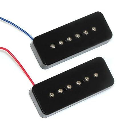 DN Negro Jabón Bar guitarra eléctrica Pastillas del puente y Pastilla del mástil: Amazon.es: Instrumentos musicales