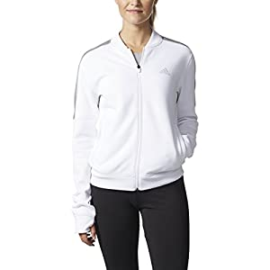 adidas Team Issue Jacket (Womens) (M, White/Grey)