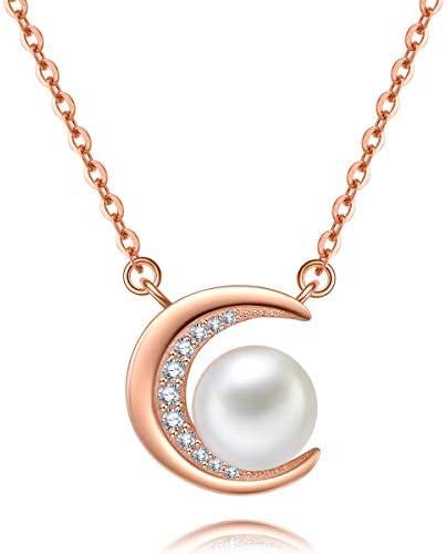 Caridyパール ネックレス レディース シルバー925 真珠ネックレス「月の光」925純銀製 誕生日プレゼント 母の日ギフト バレンタインデー贈り物 クリスマス ギフトセット