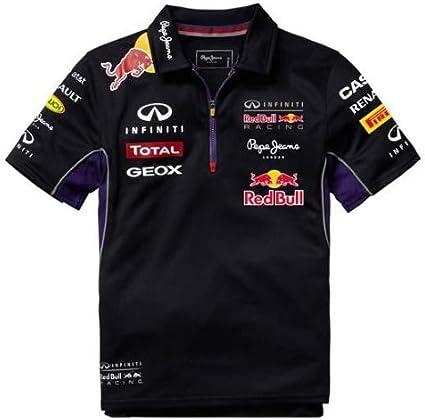 Red Bull Racing Teamline Polo para Niños, Azul/Rojo, 8 años ...