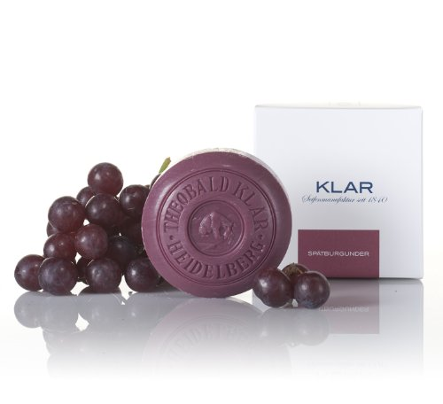 Klar S p ä t b u r g u n d e r Pinot Noir Grape Soap Red Wine - 150mg/ 5.29 Oz by Klar - D Red And G