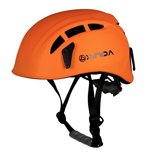 MagiDeal Professional High Strength Climbing Hard Hat Outdoor Caving Rescue Safety Helmet - Various Colors - Orange