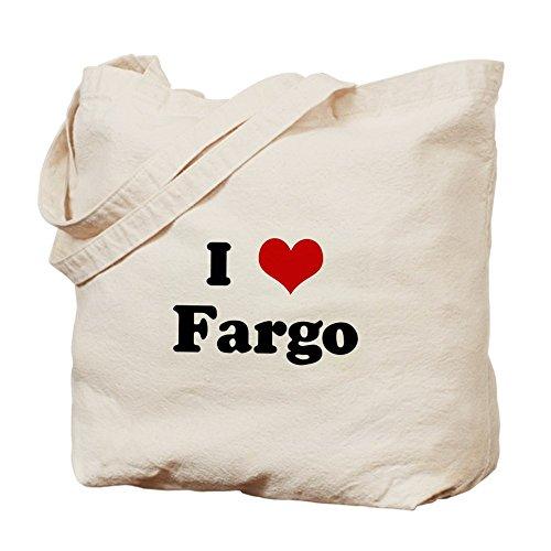 CafePress - I Love Fargo - Natural Canvas Tote Bag, Cloth Shopping - Shopping Fargo