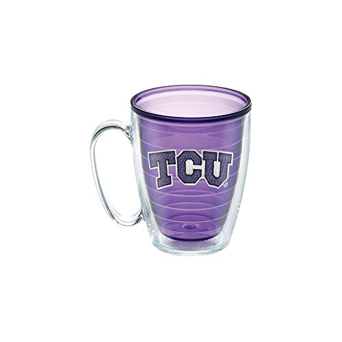 Tervis Texas Christian University Emblem Individual Mug, 16 oz, Amethyst (Texas Christian University)