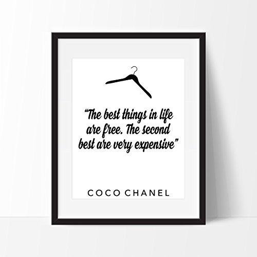 Coco Chanel Quote Art Print - Fashion Inspired Quote Art Print - Fashion Art - Wall Art (Coco Chanel Art)