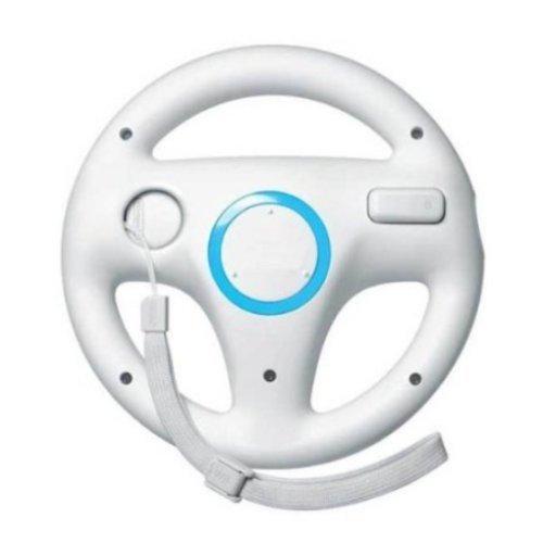 Zettaguard Mario Kart Racing Wheel for Nintendo Wii, 2 Sets White Color Bundle