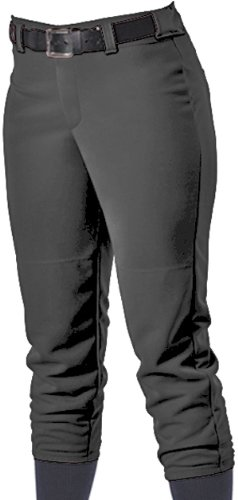 Alleson Women's Softball Pants With Belt Loops, Black, XS