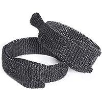 VELCRO® märkeskabelband med en omslag, dubbelsidiga remmar 13 mm x 200 mm svart 10 stycken