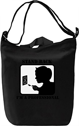 Stand Back Borsa Giornaliera Canvas Canvas Day Bag| 100% Premium Cotton Canvas| DTG Printing|