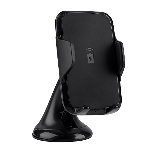 Universal Fast Wireless Car Charger, Lenuo Qi Standard Wireless Charging Dock with Car Mount Suction Cup Car Holder for Samsung Galaxy Note 8, S8, S8 Plus, S7, S7 Edge, S6 Edge Plus