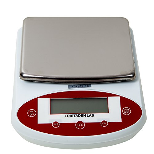 Fristaden-Lab-Digital-Analytical-Precision-Balance-15kg-x-01g-Weight-Accuracy-The-Self-Calibrating-Precision-Scale-Measures-in-Grams-Ounces-and-Carats-with-LCD-Display