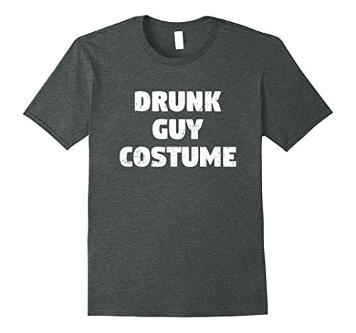 Funny Guys Halloween Costumes (Mens Drunk Guy Costume Shirt | Funny Halloween Party T-Shirt Small Dark Heather)