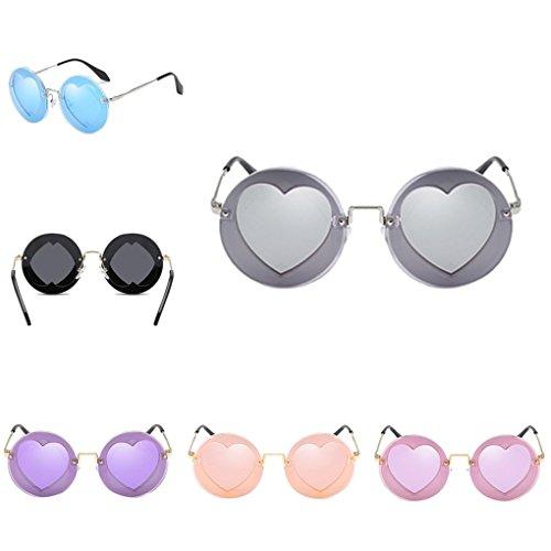 e7425e9a36 Providethebest Niños Niñas Niños Gafas de sol polarizadas UV400 protección  integral en forma de corazón de ...