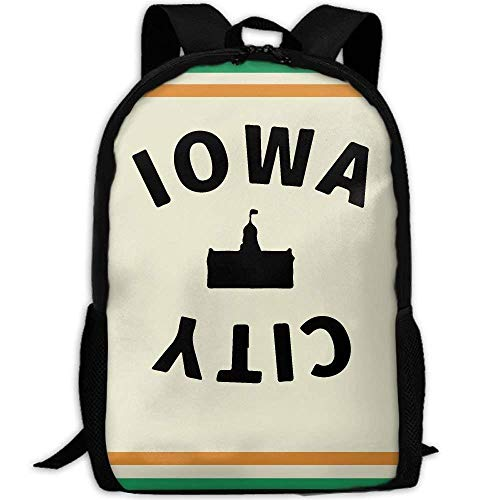 Portable Outdoor Sports Travel Backpack Iowa City Large Capacity School Bookbag for Laptop/Books/Umbrella/Snacks/Headphones/Mobile -