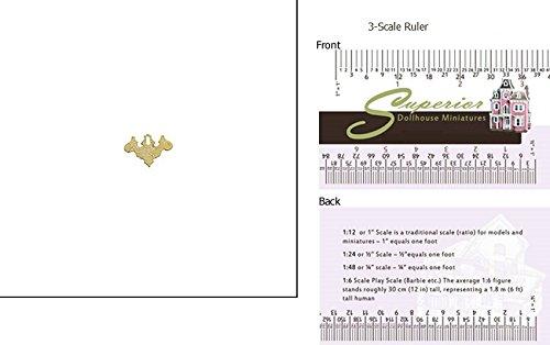 Dollhouse Miniature Brs Chip Key Plate 12 (Brs Key)