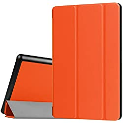 Walle Shop All-New Fire 7 Tablet Case Slim Fit Lightweight Fold Stand Smart with Auto Wake / Sleep Featured for the New Fire 7 (7th Gen, 2017 release Only) ,orange