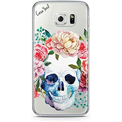 Flower Skull White TPU Phone Case For Samsung S5, Samsung S6, Samsung S6 Edge, Samsung S7 and Samsung S7 Edge (Samsung S5) Sales