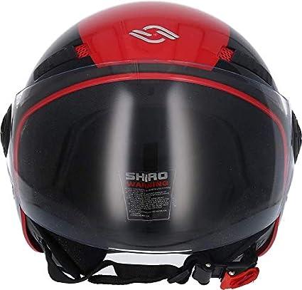 001322-0009-S//449 SHIRO 001322-0009-S//449 Casco Jet Abierto SH-62 Oxford EVO Color Rojo Talla S SHIRO