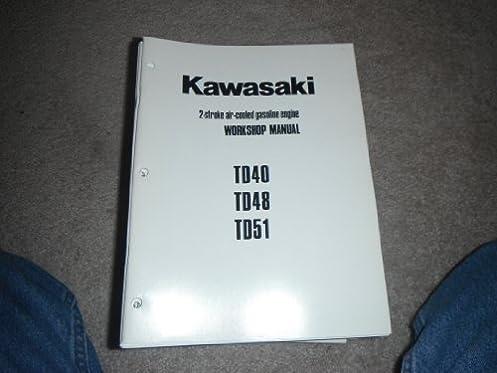 kawasaki td40 td48 td51 2 stroke air cooled gasoline engine rh amazon com kawasaki td 40 service manual Kawasaki Engine Manuals PDF