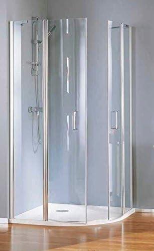 Mampara de ducha Polaris Deluxe 1/4 de redondo a cuatro paneles: Amazon.es: Bricolaje y herramientas