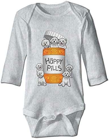 XieTao Happy Pills Cute Bodysuit Toddler Rompers for Infant Unisex Baby Long Sleeve
